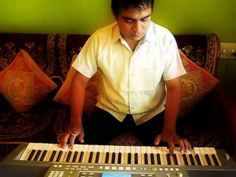 Tujhse Naraz Nahi Zindagi Instrumental on Keyboard