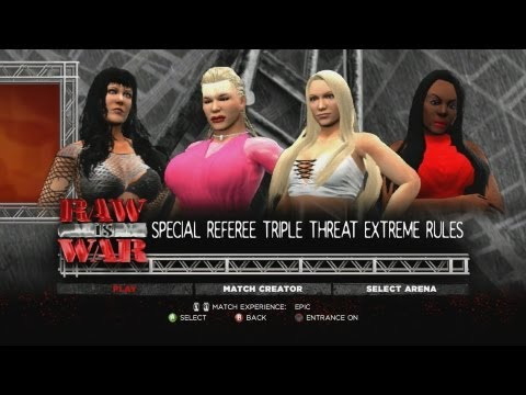 Wwe '13: Sable Vs Luna Vs Chyna video