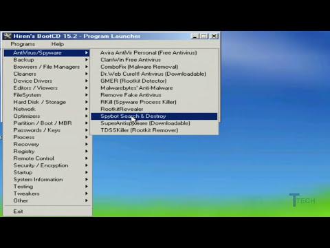 Como Eliminar Virus, Spyware, Troyanos y cualquier  Malware con Hiren's BootCD