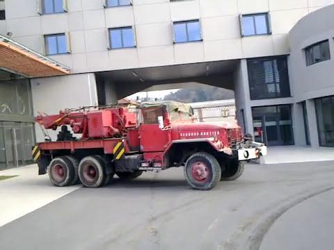 camion de pompiers ex militaire us reo m 35 6x6 depanneuse lourde 1950 caserne de vienne youtube. Black Bedroom Furniture Sets. Home Design Ideas