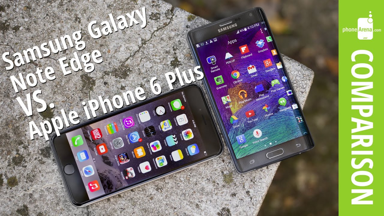 samsung galaxy note edge vs apple iphone 6 plus youtube. Black Bedroom Furniture Sets. Home Design Ideas