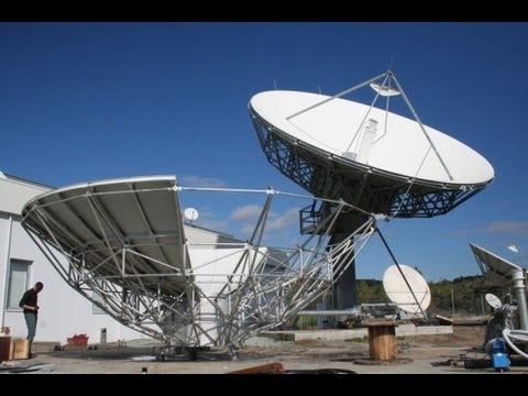 Antech 7,3m Earth Station Antenna installation on Cyprus by Skybrokers