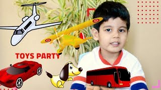 Avi Play with Car Toys || Video Compilation for Kids About Parking & Toy Cars