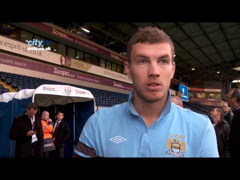 EPL 12-13 West Brom 1-2 City Dzeko Reaction