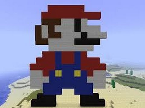 Minecraft Pixel Art Tutorial MARIO Statue