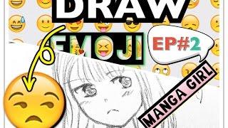 Drawing a manga girl - Emoji Drawing Challenge #2 AngieARTmanga