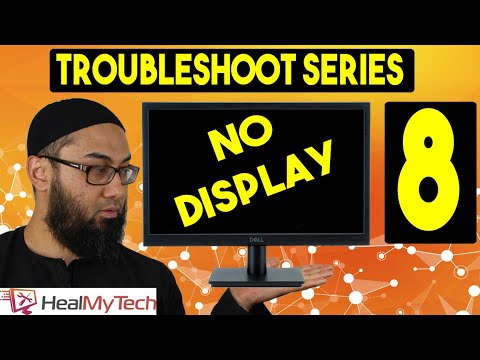 Pt 8 | Troubleshoot A Monitor | Computer Turning On But No Display On Monitor