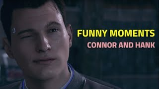 Detroit Become Human - Funny Moments with Connor and Hank