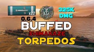 NEW 0.6.4 ► Buffed Shimakaze Torps || 325K DMG - World of Warships