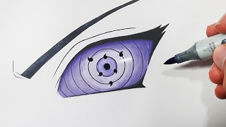 How To Draw The Rinnegan - Step By Step Tutorial