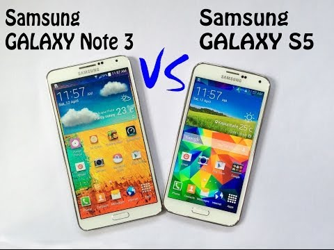 Samsung Galaxy S5 vs Samsung Galaxy Note 3 Speed Test   Full Compresion