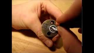 How to pick a tubular lock with out a special pick .