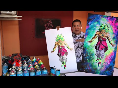 Broly Dragon Ball Super Spray Paint Art