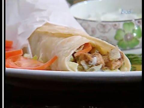ساندويتش دجاج يوناني سوفولاكي الشيف #غفران_كيالي من برنامج #هيك_نطبخ #فوود