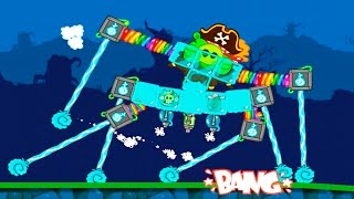 BadPiggiesHD РОБОТ СЕЛ НА ШПАГАТ! BadPiggiesHD THE ROBOT SAT DOWN ON A TWINE . A bug in the game!