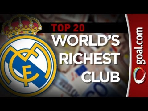 Top 20 Richest Football Clubs 2013