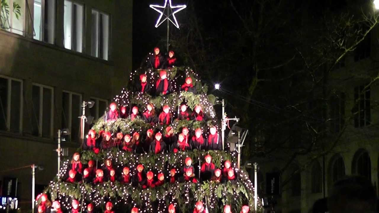 the singing christmas tree 2012 in z rich youtube. Black Bedroom Furniture Sets. Home Design Ideas