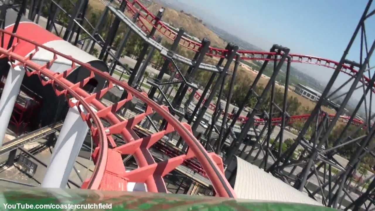 Viper Hd Pov Six Flags Magic Mountain Youtube