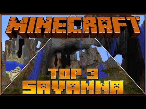 Minecraft 1.7/1.8 Seeds - Top 3 Spawn Savanna Plateaus!