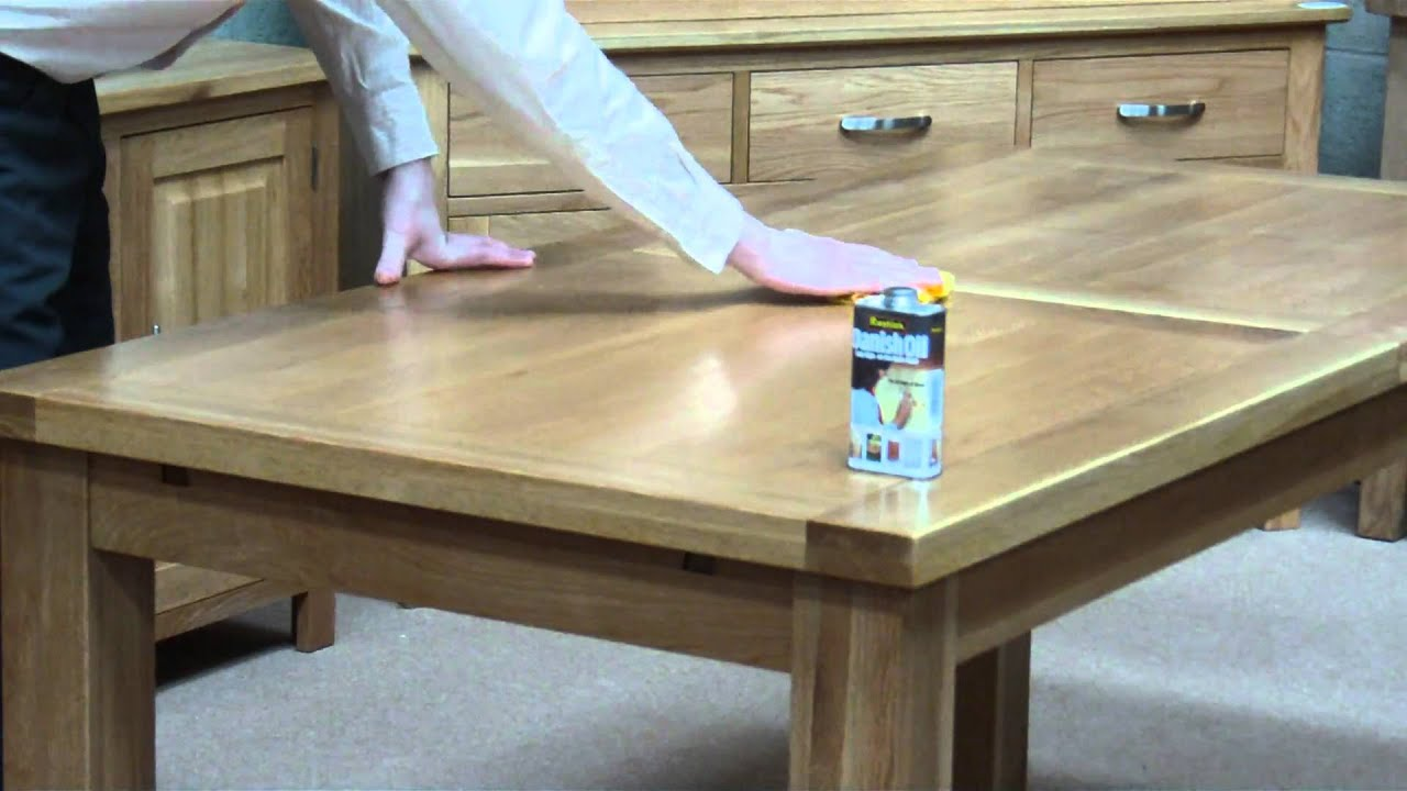 How To Apply Danish Oil To A Solid Oak Table Youtube