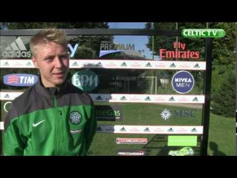 Celtic FC - UEFA Youth League Jamie Lindsay Post Match