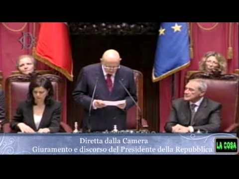 Discorso Napolitano 22 aprile (integrale)