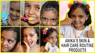 My 5 years old Daughter's Skin and Hair Care Routine Products |Baby Skin Care|Baby Hair Care Routine