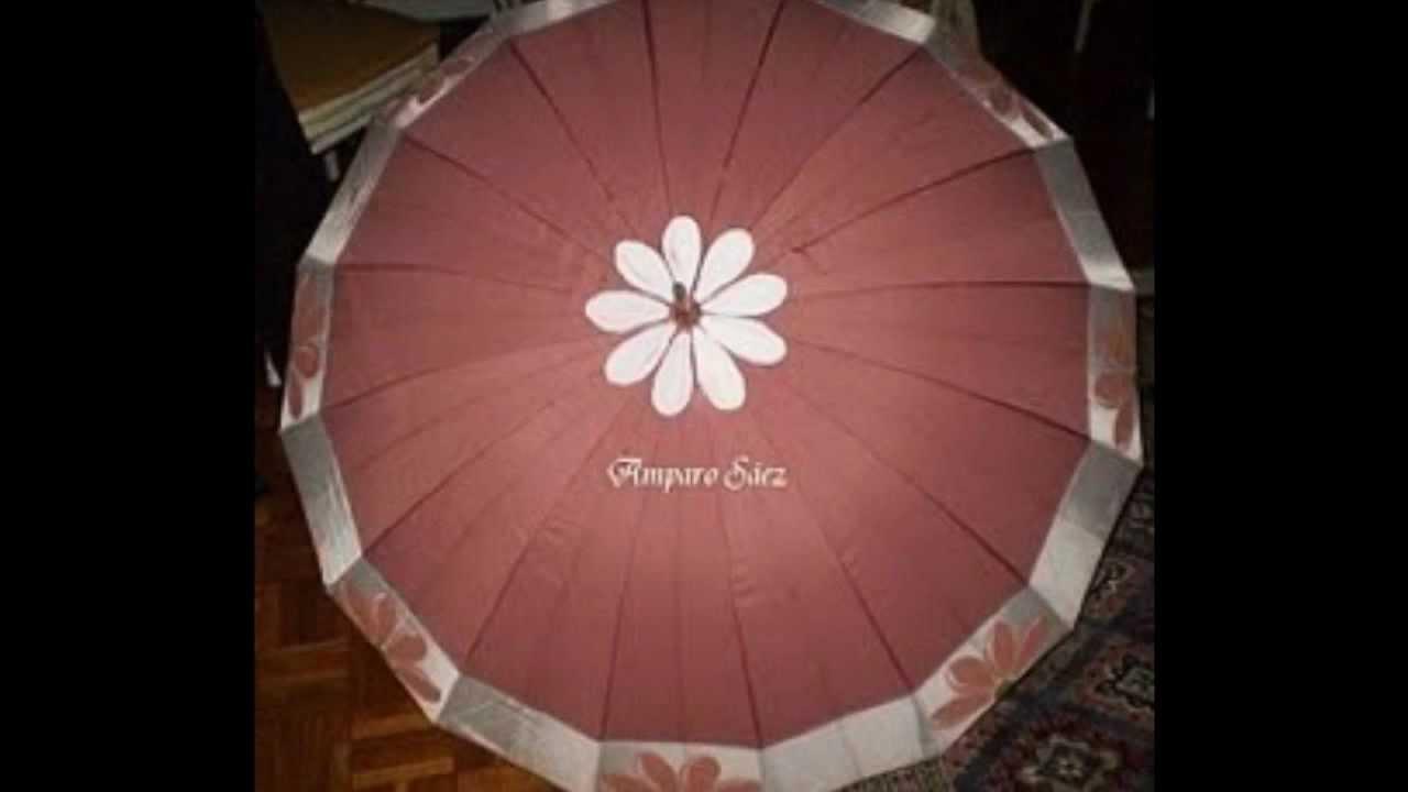Paraguas pintados a mano por amparo s ez youtube - Como pintar abanicos ...