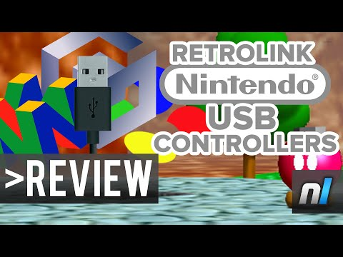 USB Retro Nintendo Controllers Review - RetroLink LED Classic Controllers