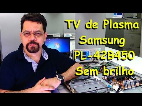 TV de Plasma Samsung PL42B450 Sem brilho