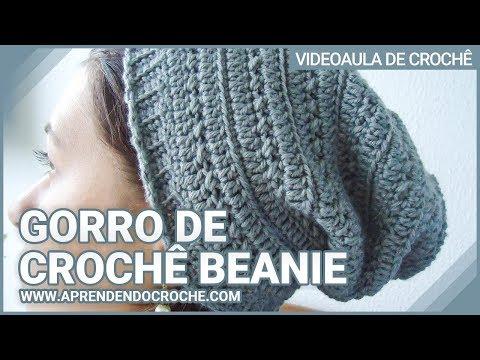 Gorro de Crochê Beanie - Aprendendo Crochê