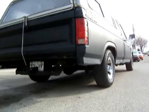 Cammed Ford F-150 300 ci 4.9L I-6 straight exhaust/Thrush glasspack