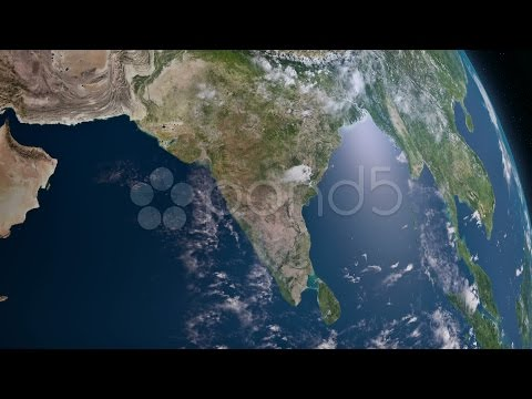 Earth 3d view from space. South Asia.. Stock Footage