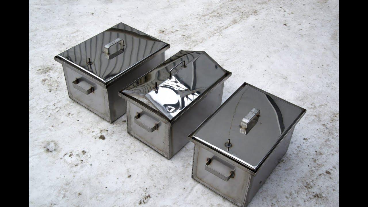 Коптильня горячего копчения из металла своими руками фото 347
