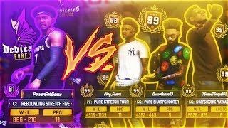 3 99 OVERALLS EXPOSED! (EMBARASSING) POWER DF VS PLAYER OF THE MONTH IN NBA 2K18 MYPARK