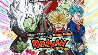 590 STONES! NICE PULLS! FUSION ZAMASU & SUPER SAIYAN RAGE TRUNKS DOKKAN FEST | DBZ Dokkan Battle