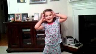 "Kyndall sings ""Climb, climb up sunshine mountain"""