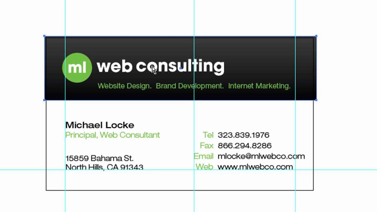 How To Setup And Design Business Cards In Adobe Illustrator