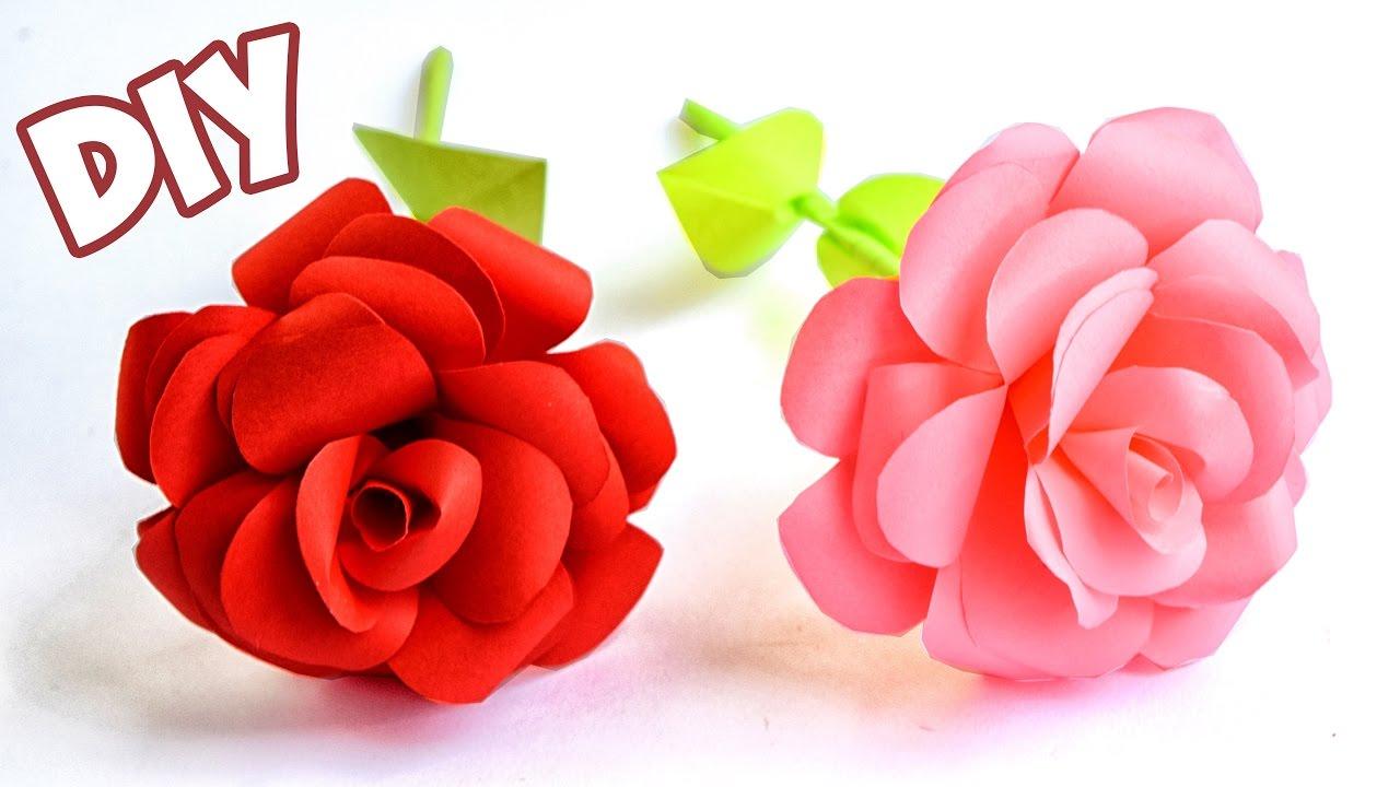 Как из бумаги розу открытку 288