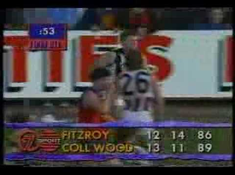 Fitzroy v Collingwood 1992 - Paul Roos to the rescue!