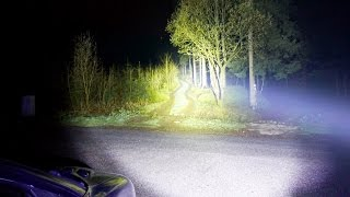 LED Flashlight Fenix TK70 vs. Car Headlight