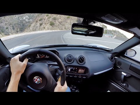 2015 Alfa Romeo 4C - WR TV POV Canyon Drive