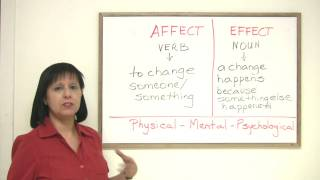 Confused Words - EFFECT & AFFECT