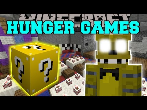 Minecraft: Five Nights At Freddy's Hunger Games - Lucky Block Mod - Modded Mini-game video