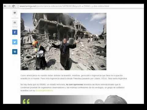 El post que TARINGA no quiere que veas: Boycott a ISRAEL y dos mitos (censurado)