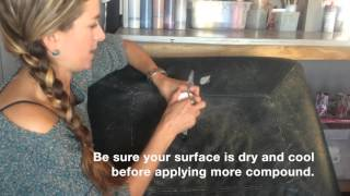 Repair Leather and Vinyl with Flexible Filler