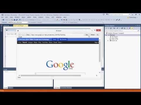 How to make an Advance WebBrowser using Visual studio 2013