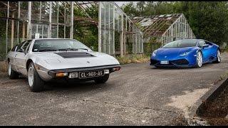 2016 Lamborghini Huracán vs 1972 Lamborghini Urraco [COMPARATIF VIDEO] : le bal des conquérantes
