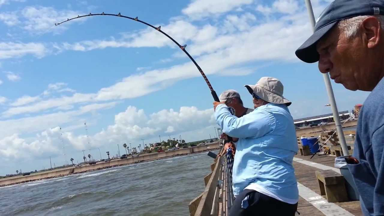 Galveston fishing pier youtube for Galveston jetty fishing report