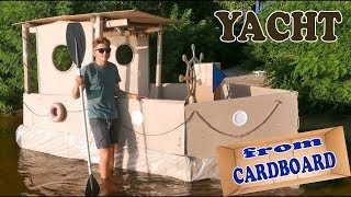 YACHT FROM CARDBOARD - DIY